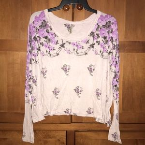 Free People Boxy Floral Top